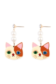 Riah Fashion Colorful Stud-Dangling Earring - Product Mini Image