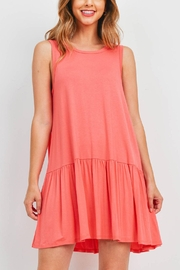 Riah Fashion Coral Dress - Front cropped