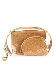 Riah Fashion Cork-And-Clear 3pcs Pouches - Product Mini Image