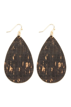 Shoptiques Product: Cork Teardrop Earrings
