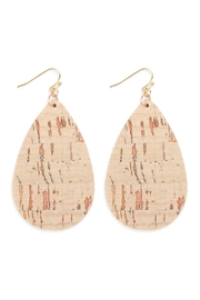 Riah Fashion Cork Teardrop Earrings - Product Mini Image