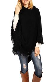 Riah Fashion Cozy Hood Poncho - Front cropped