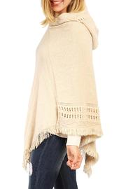 Riah Fashion Cozy Hood Poncho - Front full body