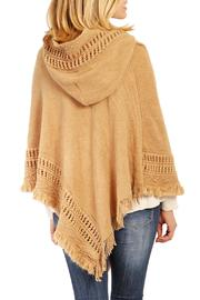 Riah Fashion Cozy Hood Poncho - Side cropped