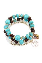 Riah Fashion Crack Beaded Bracelet - Front cropped