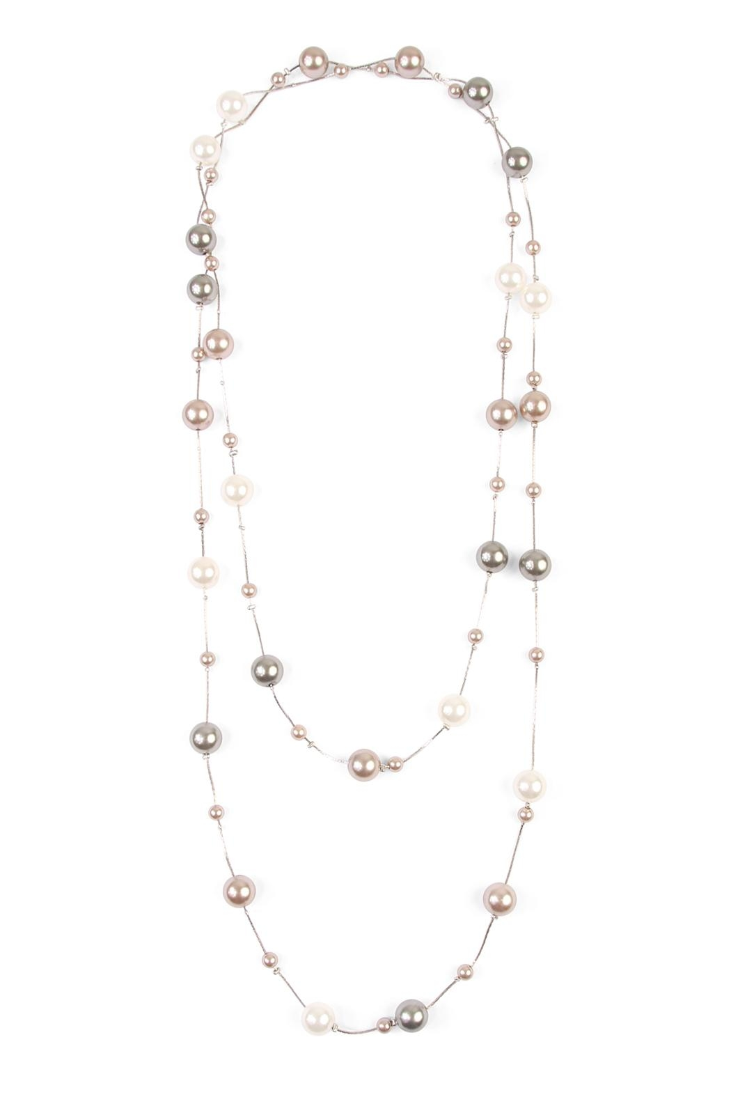Riah Fashion Cream Multi Pearl Necklace - Main Image