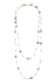 Riah Fashion Cream Multi Pearl Necklace - Front cropped