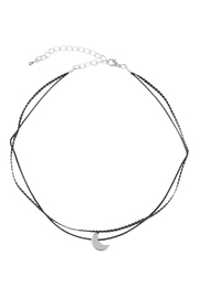 Riah Fashion Crescent Moon Choker - Front cropped