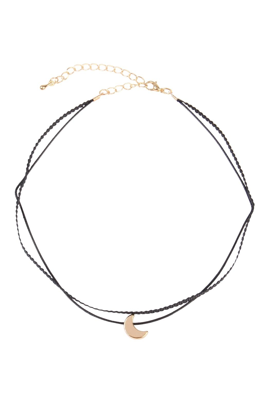 Riah Fashion Crescent Moon Choker - Main Image
