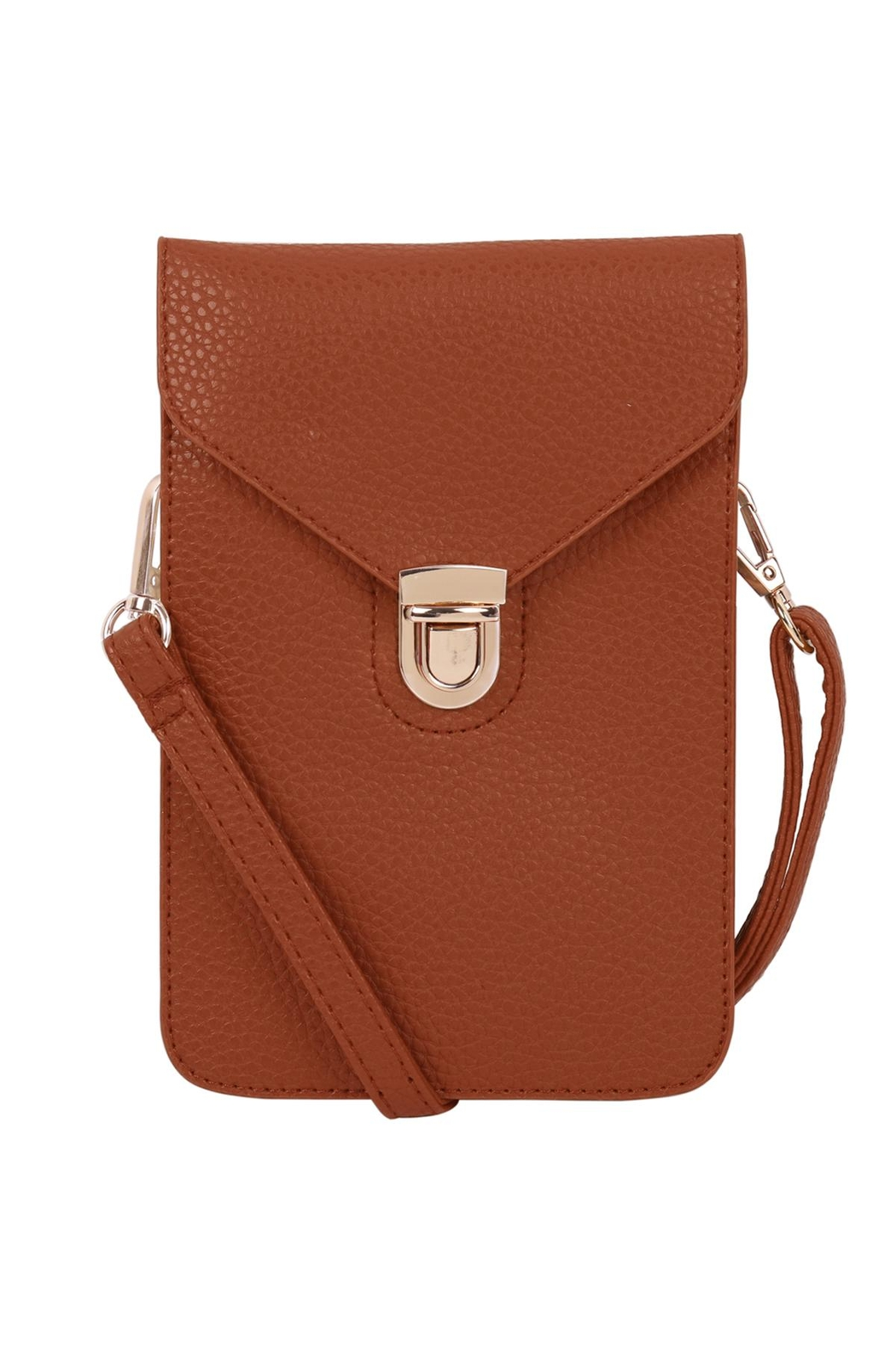 Riah Fashion Cross-Body-Leather-Bag - Front Cropped Image