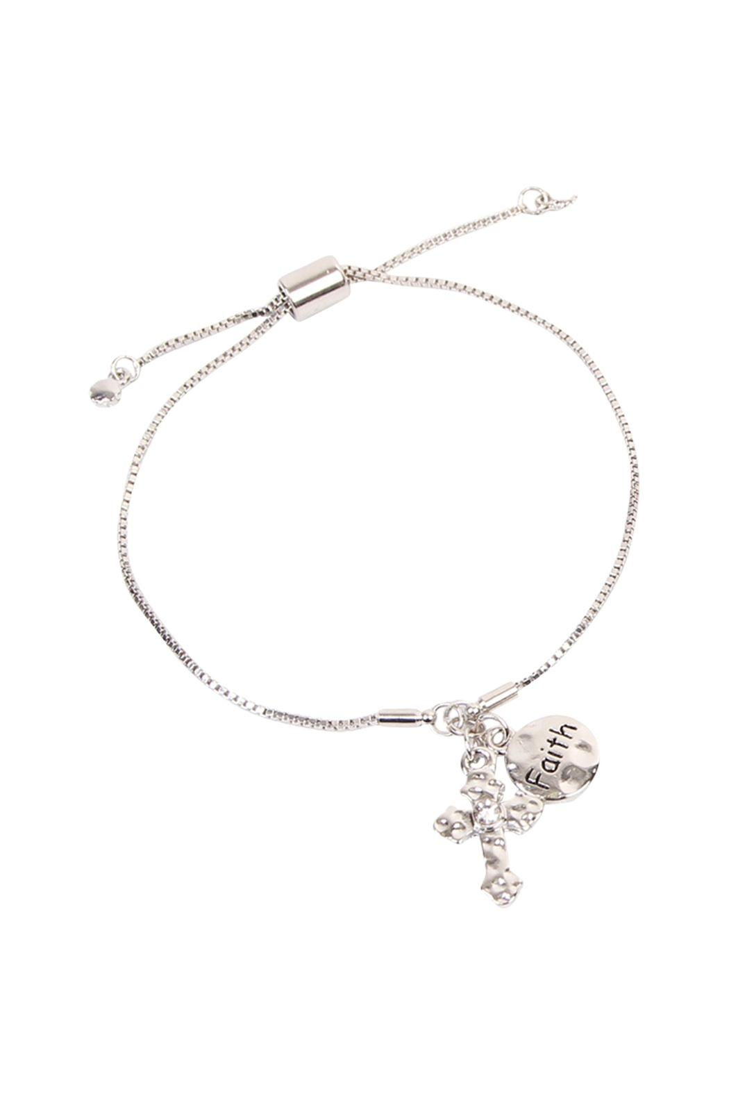 Riah Fashion Cross Faith Bracelet - Front Cropped Image