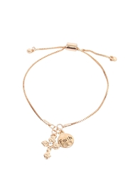 Riah Fashion Cross Faith Bracelet - Front cropped