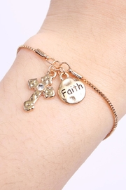 Riah Fashion Cross Faith Bracelet - Side cropped