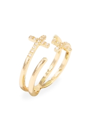 Riah Fashion Cross Wrap Ring - Front full body