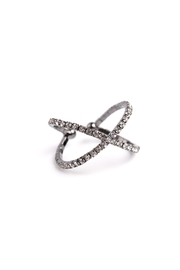Riah Fashion Crossing Cuff Ring - Product Mini Image