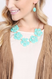 Riah Fashion Crystal Necklace Set - Front full body