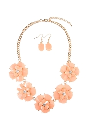 Riah Fashion Crystal Necklace Set - Front cropped