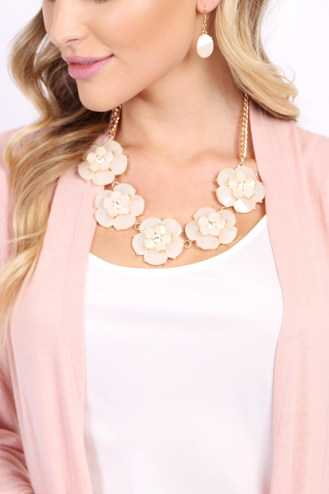 Riah Fashion Crystal Necklace Set - Front Full Image