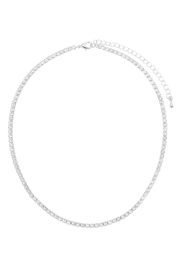 Riah Fashion Cubic-Zirconia-3mm-1-Row-Necklace-And Earring Set - Product Mini Image