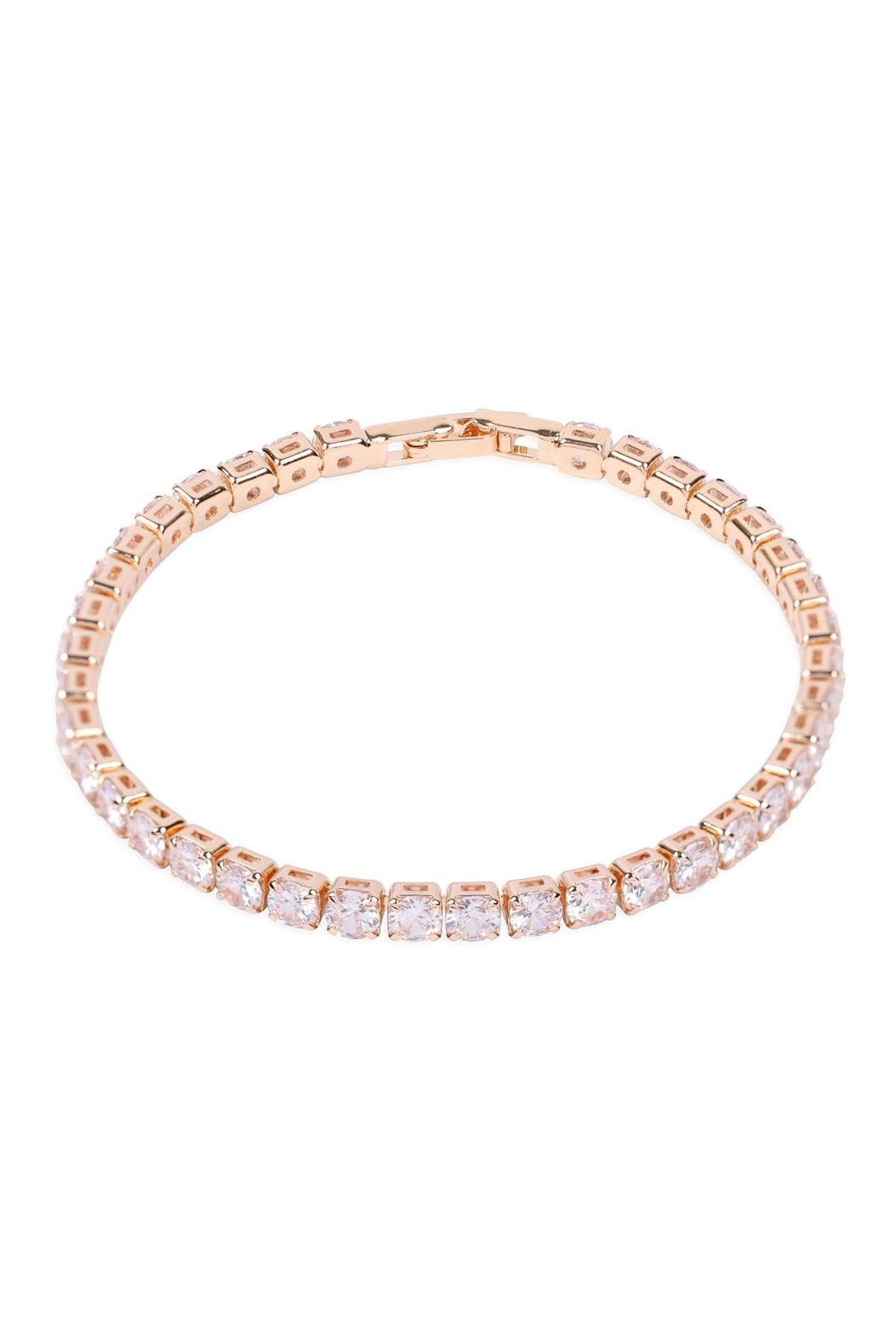 Riah Fashion Cubic-Zirconia-4mm-1-Row-Bracelet - Main Image
