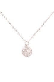 Riah Fashion Cubic-Zirconia-Pave-Round-Disk-Necklace - Product Mini Image