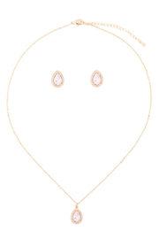 Riah Fashion Cubic-Zirconia-Pear-Shape-Necklace-And-Earrings-Set - Product Mini Image