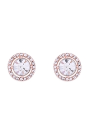 Riah Fashion Cubic-Zirconia-Round-Halo-Stud-Earrings - Front cropped