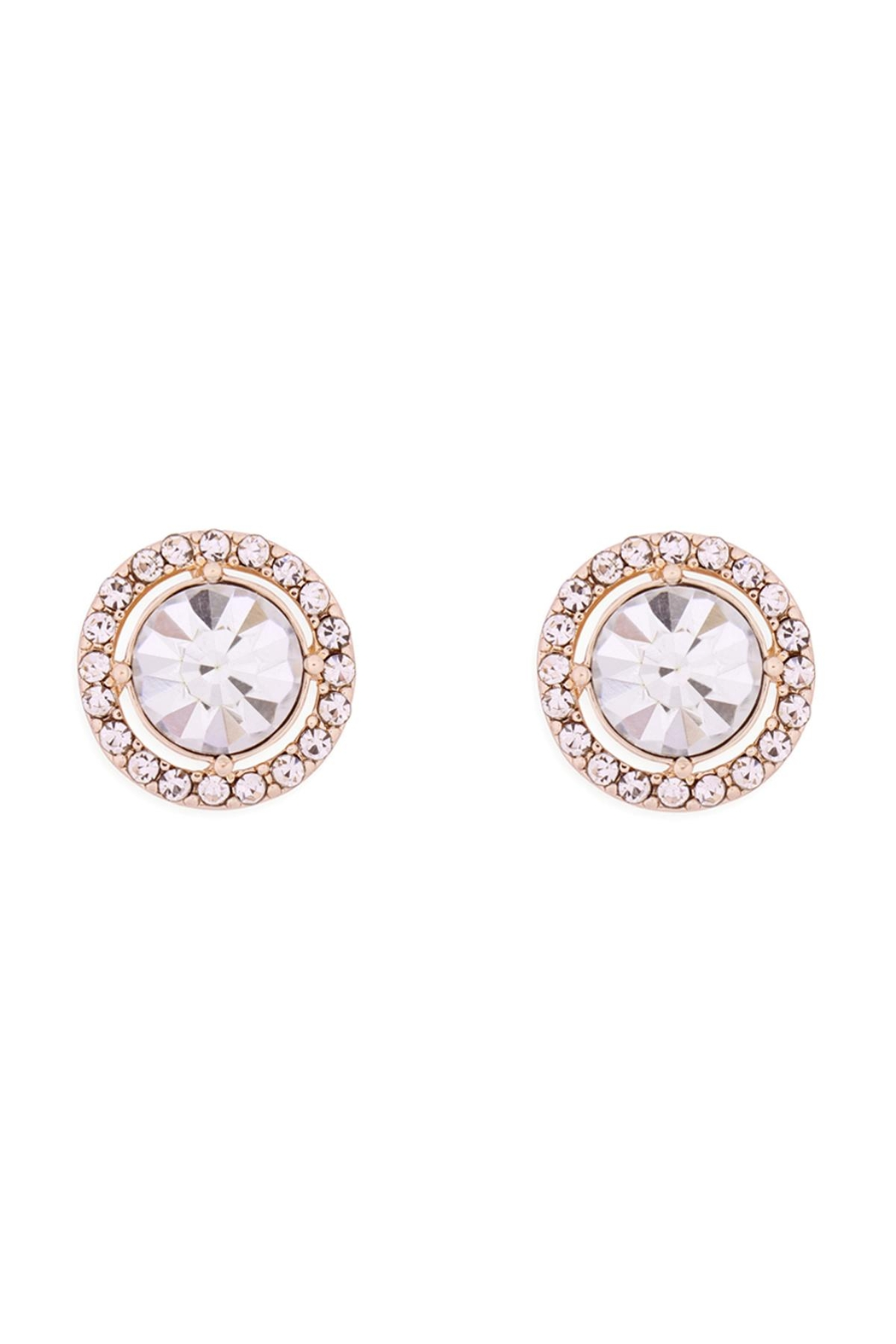 Riah Fashion Cubic-Zirconia-Round-Halo-Stud-Earrings - Main Image