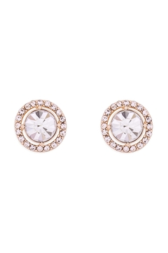Riah Fashion Cubic-Zirconia-Round-Halo-Stud-Earrings - Product List Image