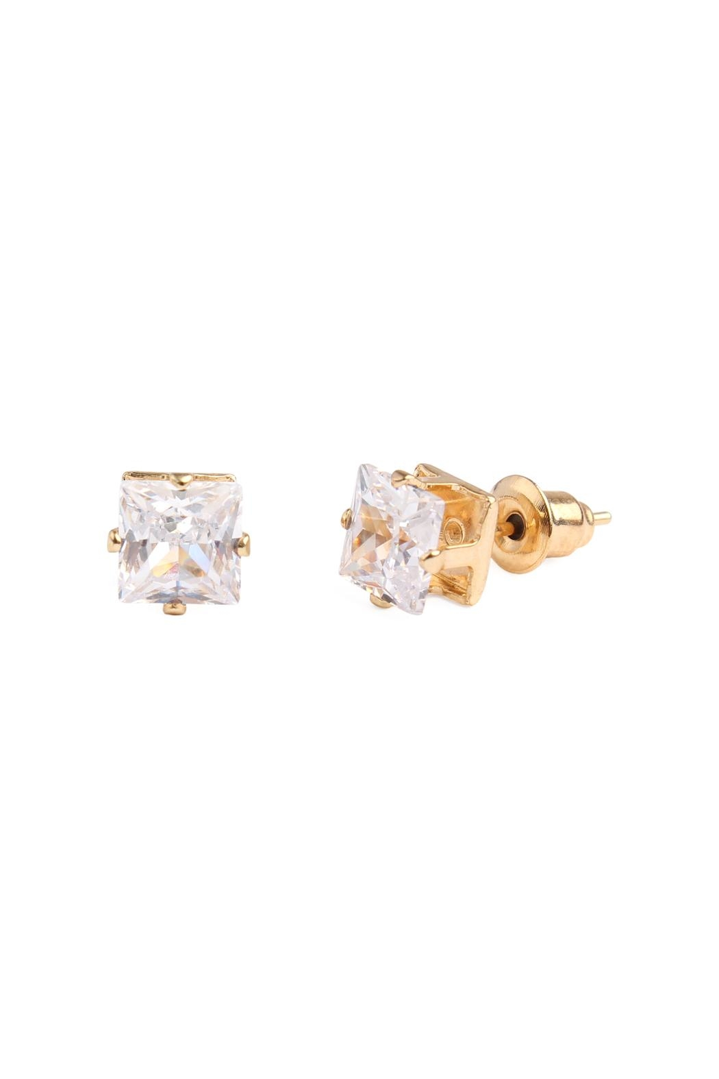 Riah Fashion Cubic Zirconia Stud-Earrings - Main Image