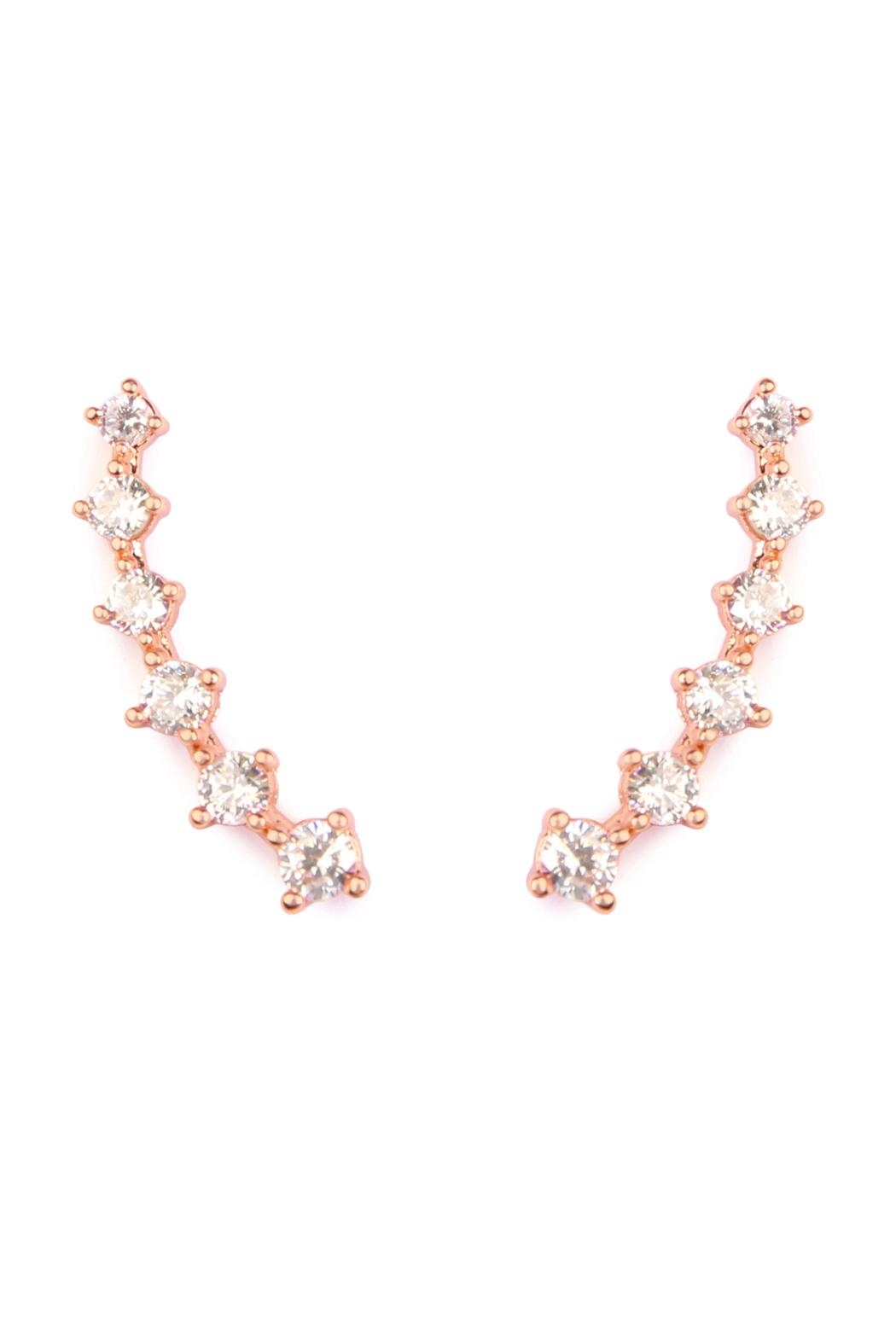 Riah Fashion Cushion Crawler Earrings - Main Image