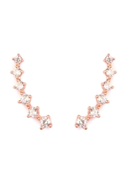 Riah Fashion Cushion Crawler Earrings - Front cropped