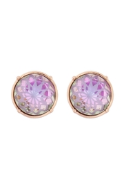 Riah Fashion Cushion-Cut-Round-Glass-Stone-Post-Earrings - Front cropped