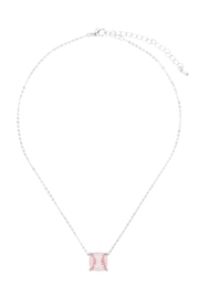 Riah Fashion Cushion-Cut-Softball-Necklace - Front full body