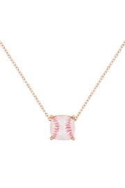 Riah Fashion Cushion-Cut-Softball-Necklace - Front cropped