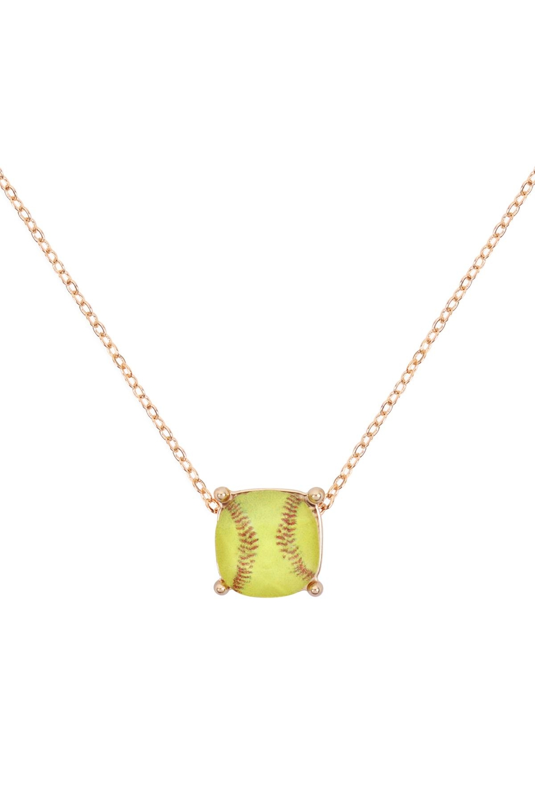 Riah Fashion Cushion-Cut-Softball-Necklace - Main Image