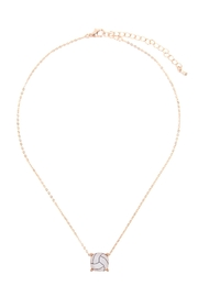 Riah Fashion Cushion-Cut-Volleyball-Necklace - Front full body