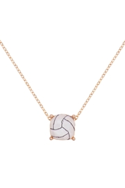 Riah Fashion Cushion-Cut-Volleyball-Necklace - Front cropped