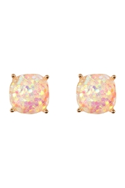 Riah Fashion Cushion Glitter Earrings - Product Mini Image