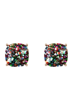 Riah Fashion Cushion Glitter Earrings - Product List Image