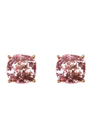 Riah Fashion Cushion Glitter Earrings - Front cropped