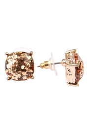 Riah Fashion Cushion Glitter Earrings - Front full body