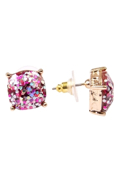 Riah Fashion Cushion Glitter Earrings - Alternate List Image