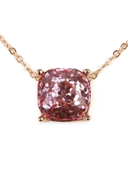 Riah Fashion Cushion Glitter Necklace - Front full body
