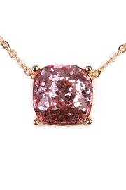Riah Fashion Cushion Glitter Necklace - Product Mini Image