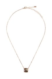Riah Fashion Cushion Glitter Necklace - Front cropped