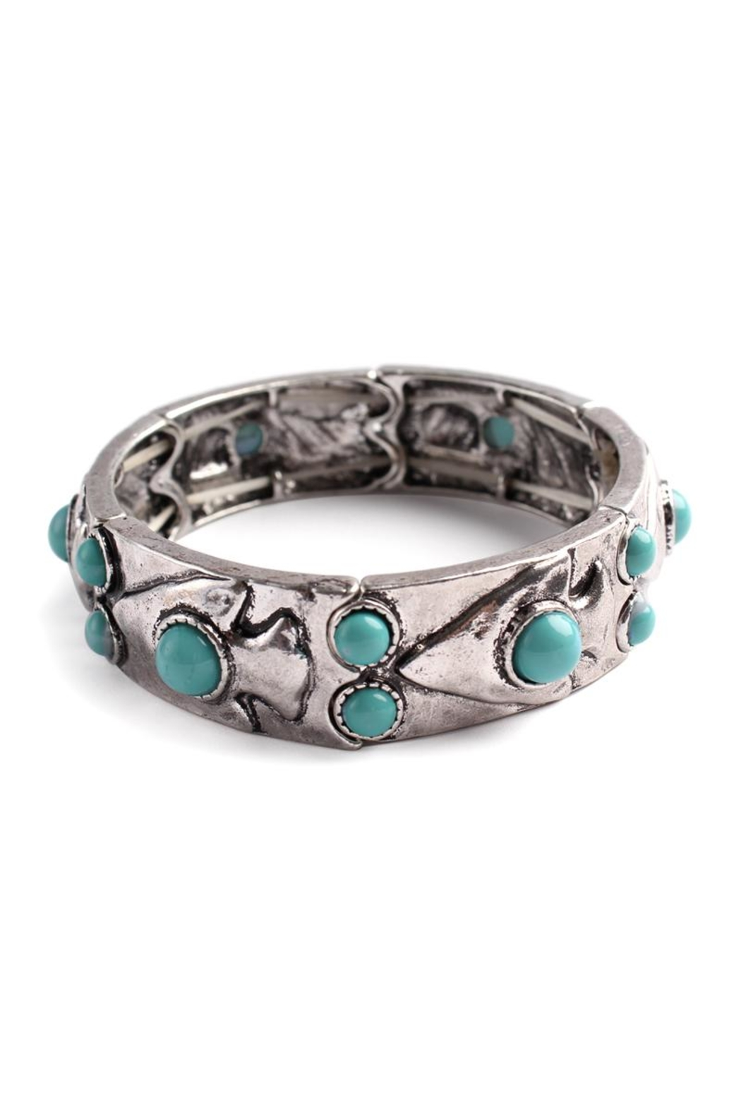 Riah Fashion Cut-Out Stone Bracelet - Front Cropped Image