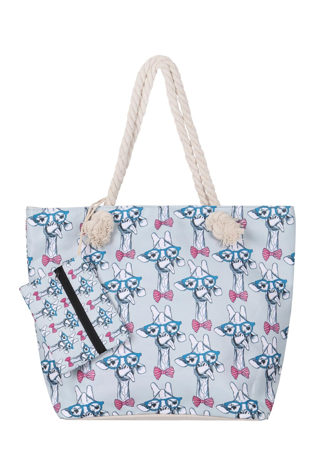Riah Fashion Cute Animal-Digital-Printend-Tote-Bag-W/-Matching-Wallet - Front Cropped Image