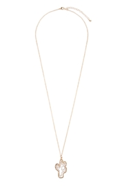 Riah Fashion Cute Cactus Necklace - Front cropped