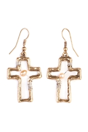 Riah Fashion Cute Cross Wired-Earrings - Product Mini Image